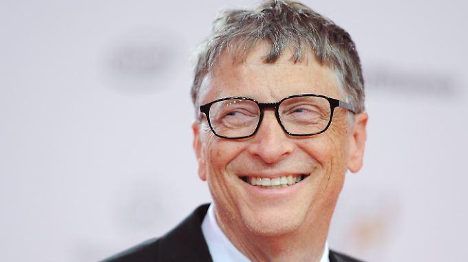 """Ist 4,2 Milliarden Dollar """"ärmer"""" als im Vorjahr, kann aber trotzdem noch lachen: Multimilliardär Bill Gates."""