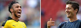 Die Besten der Liga: Pierre-Emerick Aubameyang und  Robert Lewandowski.