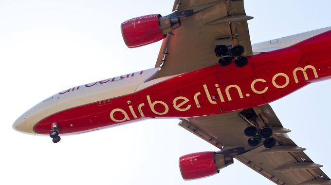 Nach dem ersten positiven Jahr ging es für die Air-Berlin-Aktien abwärts.