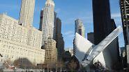 Neben dem Ort der Anschläge vom 11. September 2001 ist der teuerste Bahnhof der Welt eröffnet worden.