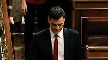 PSOE-Chef Pedro Sánchez bekommt im Parlament keine Mehrheit zusammen.