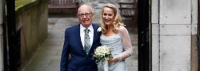 Legerer Brit-Chic beim Ex-Model: Murdoch und Hall heiraten ein zweites Mal