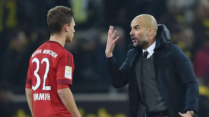 Wutanfall? Wertschätzung? Joseph Guardiola beschäftige sich nach Apbfiff jedenfalls intensiv mit seinem Jungstar Joshua Kimmich.