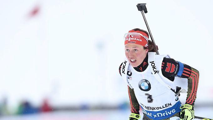 Weltmeisterin: Laura Dahlmeier.