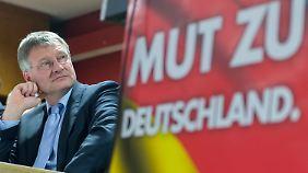 Jörg Meuthen, Spitzenkandidat der AfD in Baden-Württemberg. Meuthen gilt als moderat. Zu diesem Ruf passt sein Wahlprogramm nicht.