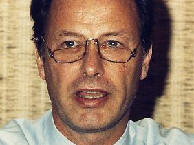 Eike Barschel kurz nach dem Tod seines Bruder, 1987.