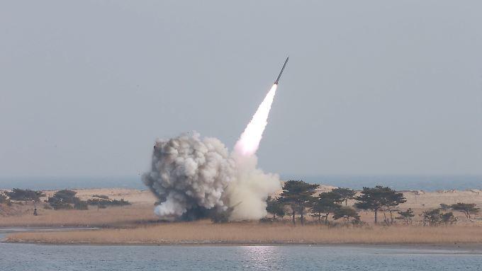 Erst vorige Woche testete das nordkoreanische Militär mehrere Kurzstreckenraketen.