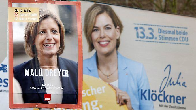 Bislang haben sich weder Dreyer noch Klöckner in der Wählergunst absetzen können.