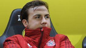 Mario Götze hat beim FC Bayern nur einen Stammplatz auf der Bank.