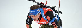 Fourcade-Festival in Oslo: Deutsche Biathleten verpassen WM-Medaille