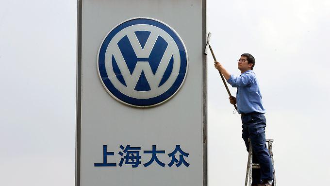 In China kann VW beim Absatz zur Zeit nicht glänzen.