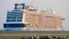 """""""Ovation of the Seas"""" ausgeschifft: 348-Meter-Ozeanriese durchfährt Emswiesen"""