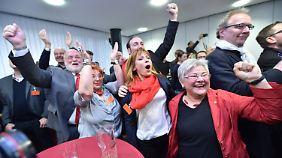 Jubelstimmung bei der SPD in Mainz.