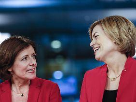 SPD-Wahlsiegerin Malu Dreyer und die unterlegene CDU-Kandidatin Julia Klöckner.