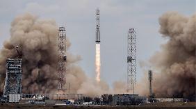 Die Rakete der Exo-Mars-Mission beim Start in Baikonur.