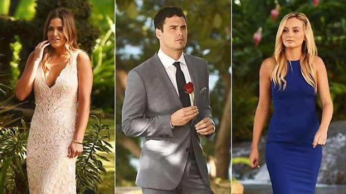 Zwischen den beiden Frauen musste sich Bachelor Ben Higgings im Finale entscheiden. Er entschied sich für Lauren Bushnell (r.) und machte ihr auch gleich einen Heiratsantrag.