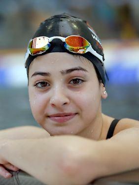 Yusra Mardini beim Schwimmtraining in Rio de Janeiro. Es bedeutet ihr viel dabei sein zu können.