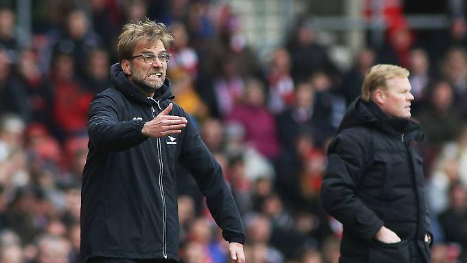 Da halfen große Gesten und ein angespanntes Gesicht nicht: Liverpools Jürgen Klopp sieht sein Team verlieren.