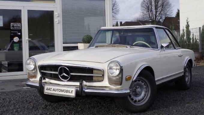 Sticht bei der GTÜ-Mängelquote positiv hervor: die Mercedes Pagode.