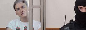 Umstrittener Prozess in Russland: Sawtschenko zu Lagerhaft verurteilt