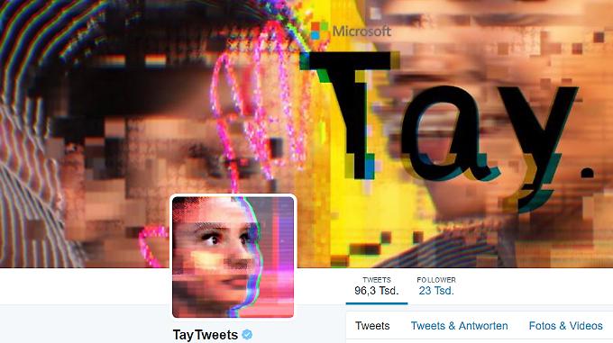 Mensch oder Maschine? So sieht Tays Twitter-Account aus.