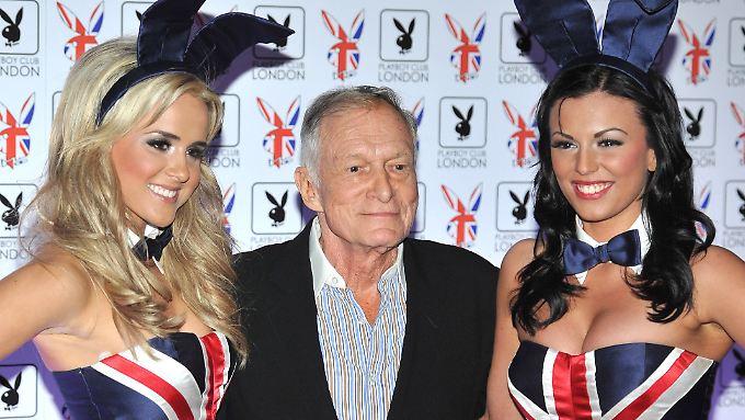 """Hugh Hefners """"Playboy""""-Imperium könnte bald den Besitzer wechseln."""