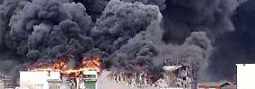 Gigantische Rauchwolken über Lohne: Geflügel-Wiesenhof steht in Flammen