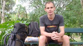 Reiseblogger Chris Wilpert auf seiner Weltreise. Er weiß, wie man sich auf dieses Abenteuer vorbereitet.