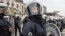 Belgische Sicherheitskräfte gingen gegen die teils gewaltbereiten Demonstranten vor.