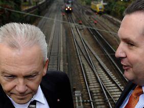 Beide wollen S21: Bahnchef Grube und Ministerpräsident Stefan Mappus.