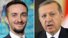"""Böhmermann hat mit seinem """"Schmähgedicht"""" diplomatische Verwicklungen ausgelöst. Nun wird er von Erdogan auch noch wegen Beleidigung verklagt."""