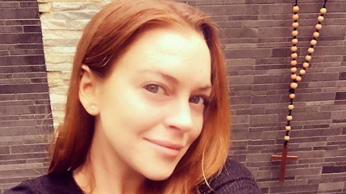 Abgeschminkt und religiös - so gibt sich Lindsay Lohan heute.