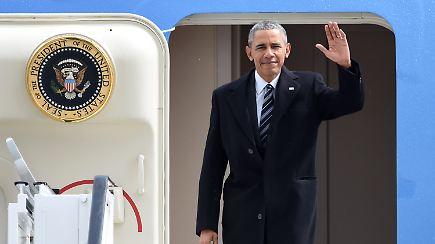letzter besuch als us pr sident obama in hannover eingetroffen n. Black Bedroom Furniture Sets. Home Design Ideas