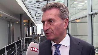 """EU-Kommissar Oettinger zur Industrie 4.0: Voraussichtlich werden """"90 Prozent aller Arbeitsplätze digitalisiert"""""""