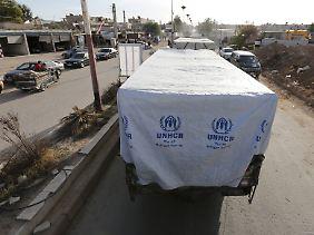 Der Zugang zu belagerten Orten in Syrien steht und fällt mit dem Fortschritt der Friedensverhandlungen.