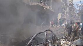Entsetzen und Verzweiflung in Aleppo: Bomben gehen auf Wohngebiet nieder