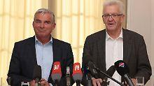 CDU-Verhandlungsführer Thomas Strobl und Winfried Kretschmann haben sich in den wesentlichen Fragen des neuen Bündnisses geeinigt.