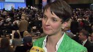 Bundesparteitag in Stuttgart: AfD-Chefin Frauke Petry im n-tv Interview