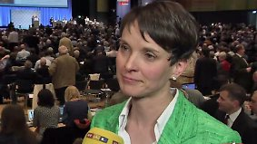 Bundesparteitag in Stuttgart: AfD-Chefin Frauke Petry im n-tv Interview