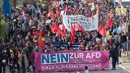 Proteste und Randale vor dem Parteitag: AfD erneuert Kampfansage an etablierte Parteien