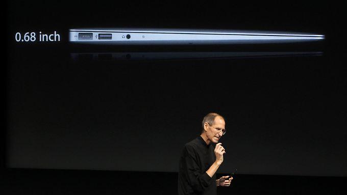 Flash-Speicher statt Festplatte: Apple präsentiert MacBook Air