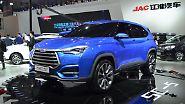 Die Anhui Jianghuai Automobile Co., Ltd. baut seit 1964 Autos. Damals unter dem Namen. Unter dem Namen Hefei Jianghuai Automobile Factory, kurz JAC, esistiert das Unternehmen seit 1999. Auf der Auto China stellt das Unternehmen die Studei SC5 vor.