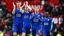 Applaus, Applaus: Robert Huth und seine Kollegen von Leicester City.