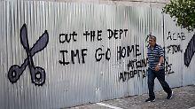 """Kritik an """"unrealistischen"""" Sparzielen: IWF fordert Schuldenerlass für Griechenland"""