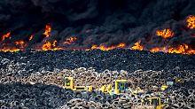 Katastrophenalarm bei Madrid: Fünf Millionen Autoreifen stehen in Flammen