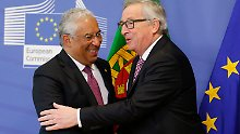 der portugiesische Regierungschef Costa wird von Kommissionspräsident Juncker empfangen.