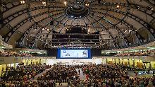 Zu Beginn der Hauptversammlung in der Frankfurter Festhalle