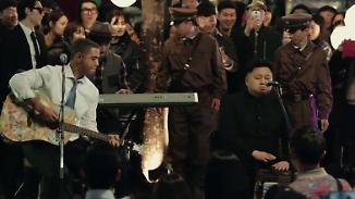 Kaum zu glauben, aber wahr: Obama- und Kim-Double grooven in Südkorea
