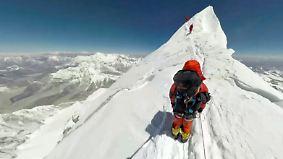Kaum zu glauben, aber wahr: Beeindruckende 360-Grad-Bilder einer Mount-Everest-Besteigung