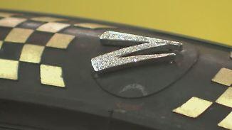 Hersteller zeigen Reales und Visionäres: Ganzer Satz Blattgold-Autoreifen kostet 600.000 Dollar